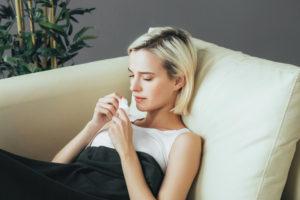 Ill Female Resting